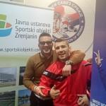 Direktor Ustanove Goran Fijat i prvak sveta u rvanju Davor Štefanek